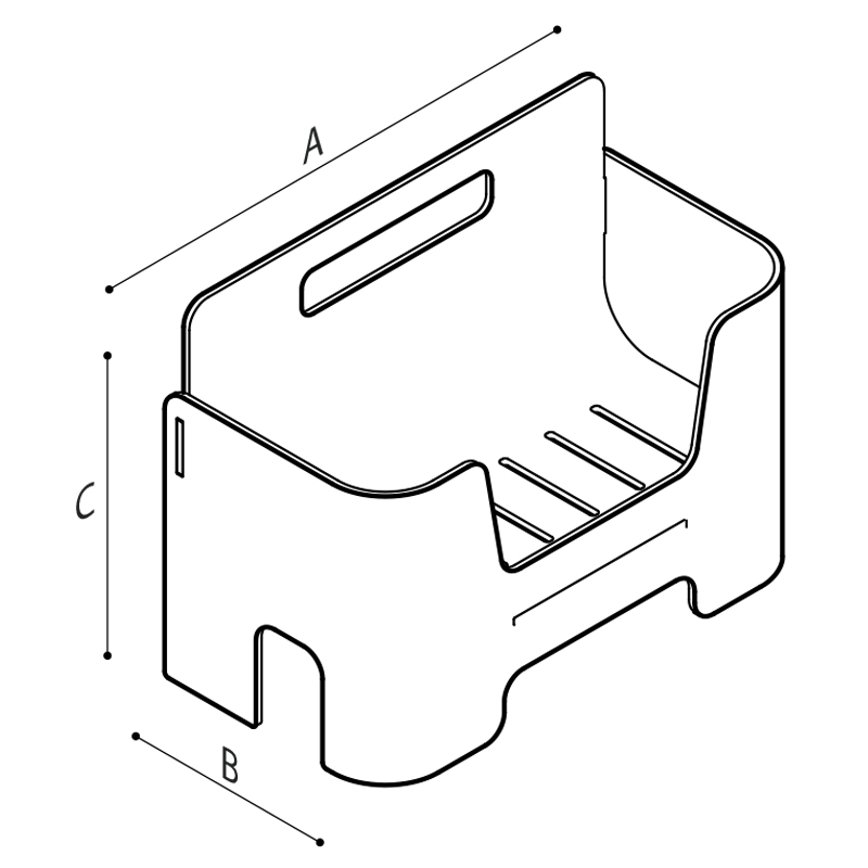Draw Portable box container Technical Drawing F41ANS03