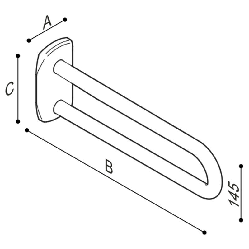Draw Side fixed safety support Technical Drawing G27JCS01